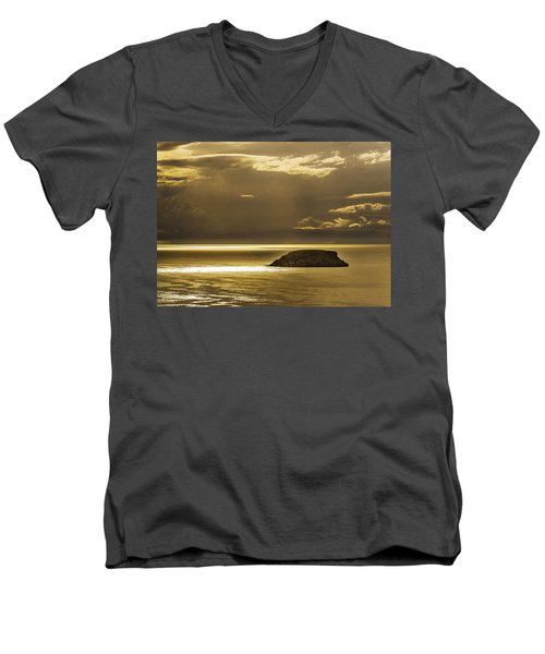 Moonscape Men's V-Neck T-Shirt by Patrick Kain