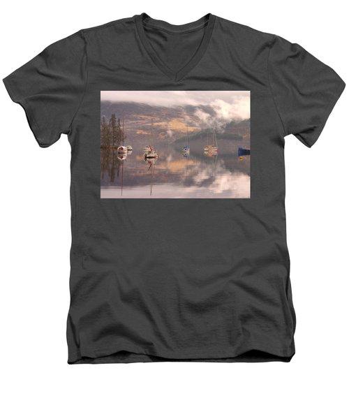Morning Reflections Of Loch Ness Men's V-Neck T-Shirt
