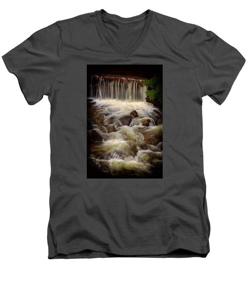 Montana High Country Men's V-Neck T-Shirt by Rick Furmanek