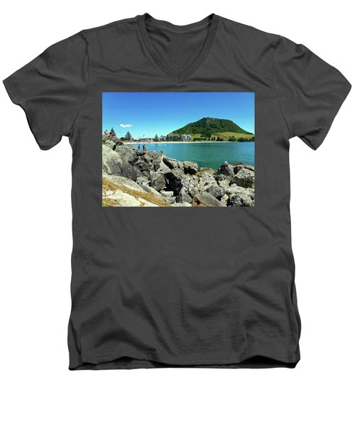 Mt Maunganui Beach 11 - Tauranga New Zealand Men's V-Neck T-Shirt