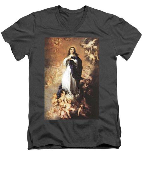 Murillo Immaculate Conception  Men's V-Neck T-Shirt by Bartolome Esteban Murillo
