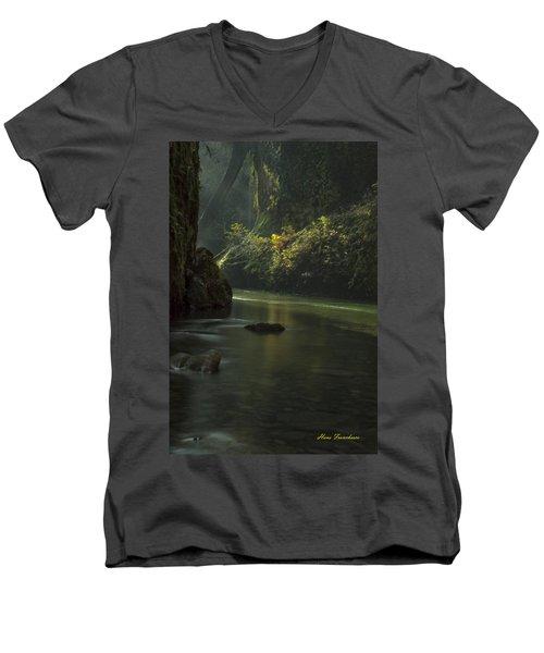 Mystical Canyon Signed Men's V-Neck T-Shirt