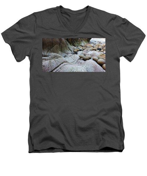 Nanven Rocks Men's V-Neck T-Shirt