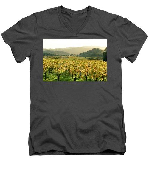 Napa Valley In Autumn Men's V-Neck T-Shirt