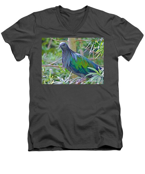 Nature's Best Men's V-Neck T-Shirt by Judy Kay
