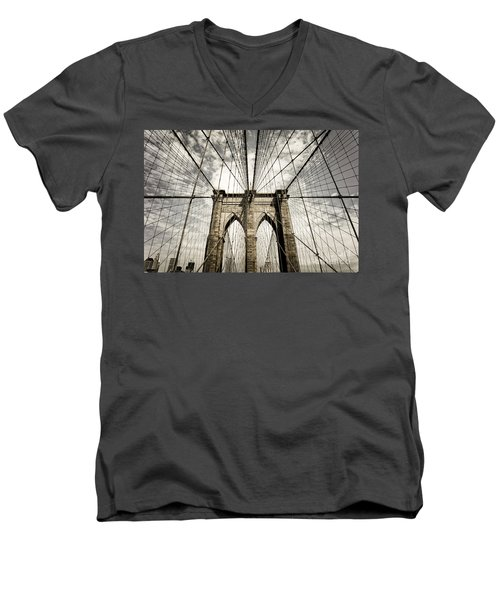 Men's V-Neck T-Shirt featuring the photograph New York by Juergen Held