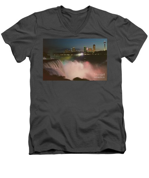 Niagara  Men's V-Neck T-Shirt by Raymond Earley