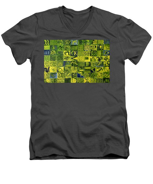 Night On The Lawn Men's V-Neck T-Shirt by Patricia Cleasby