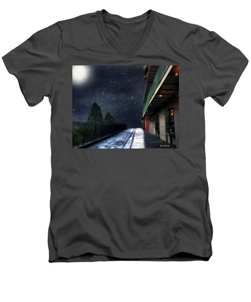 Nightwalk Men's V-Neck T-Shirt by RC deWinter