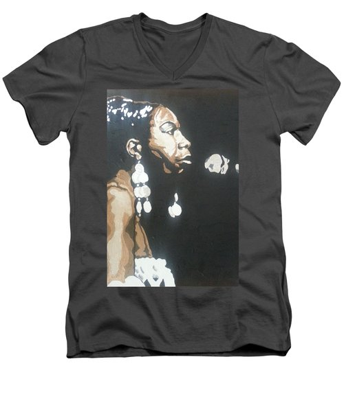 Nina Simone Men's V-Neck T-Shirt