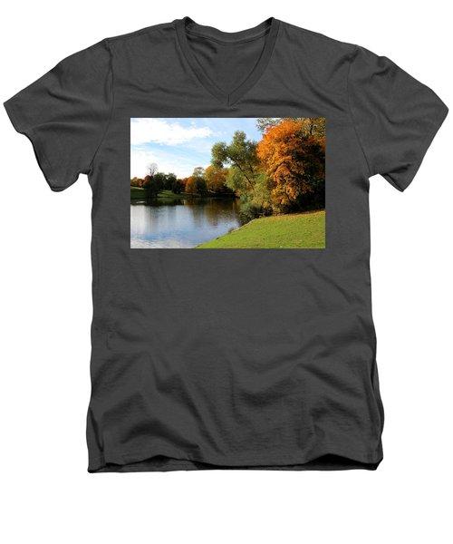 Scandinavian  Autumn  Men's V-Neck T-Shirt