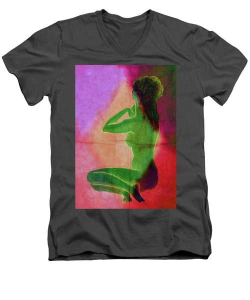 Nude Woman Men's V-Neck T-Shirt by Svelby Art