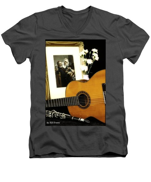 Men's V-Neck T-Shirt featuring the photograph Number 2 by Elf Evans