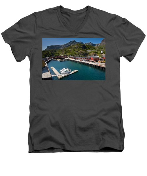 Nusfjord Fishing Village Men's V-Neck T-Shirt