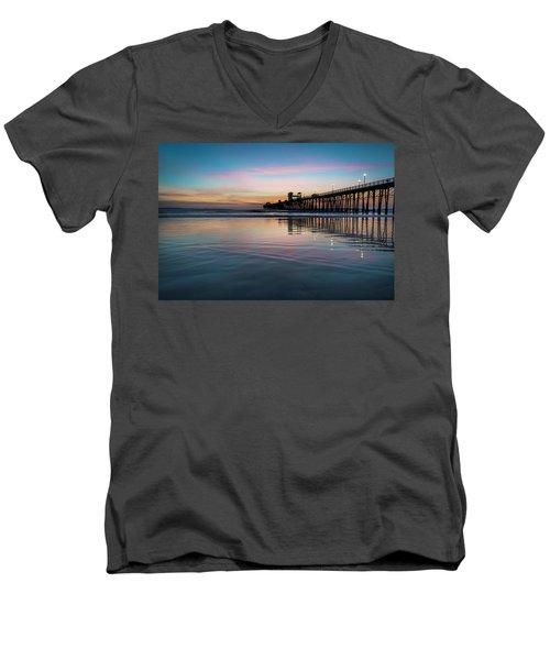 Oceanside Pier Sunset Men's V-Neck T-Shirt