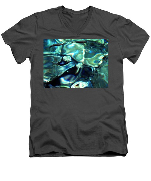 Men's V-Neck T-Shirt featuring the photograph Ocean Water by Colette V Hera  Guggenheim