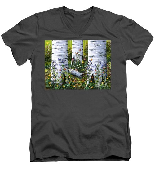 Old Aspen Grove Men's V-Neck T-Shirt