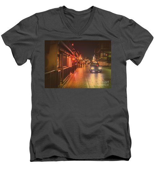 Old Kyoto, Gion Japan Men's V-Neck T-Shirt