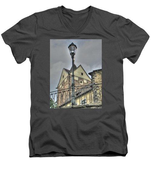 old Tallin Men's V-Neck T-Shirt by Yury Bashkin