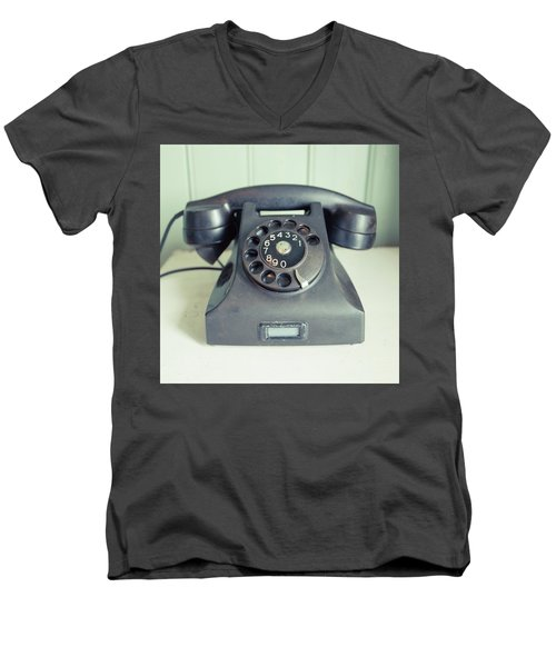 Old Telephone Square Men's V-Neck T-Shirt