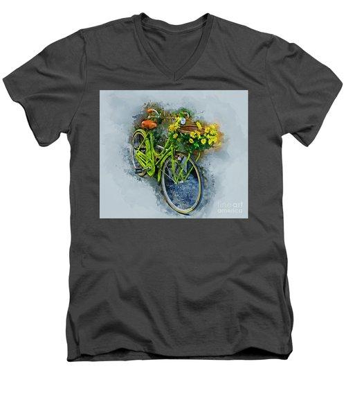 Olde Vintage Bicycle Men's V-Neck T-Shirt