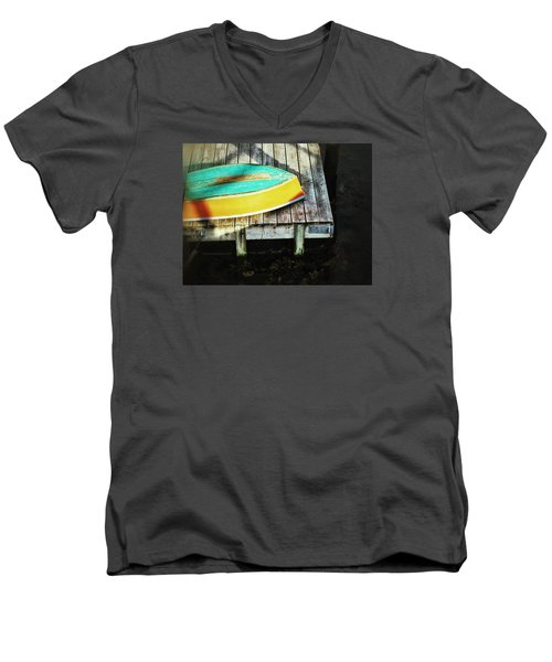 Men's V-Neck T-Shirt featuring the photograph On Deck by Olivier Calas