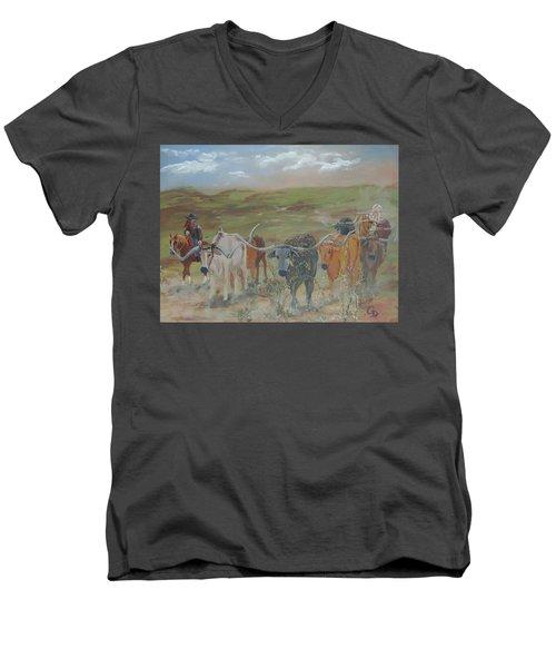 On The Chisholm Trail Men's V-Neck T-Shirt
