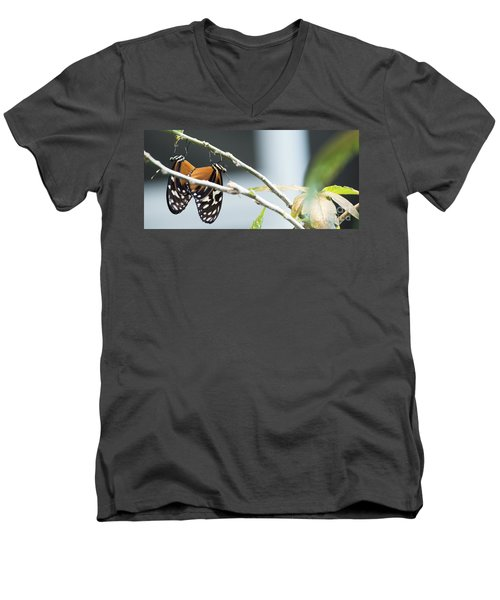 Men's V-Neck T-Shirt featuring the photograph On The Edge by Deborah Klubertanz
