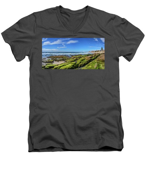 Men's V-Neck T-Shirt featuring the photograph On The Rocky Coast by Peter Tellone