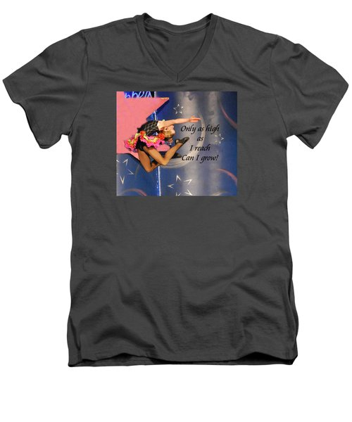 Men's V-Neck T-Shirt featuring the photograph Only As High As I Reach by Linda Cox