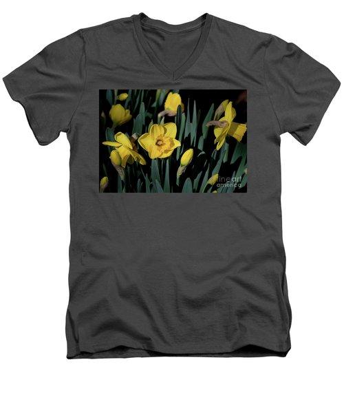 Camelot Daffodils Men's V-Neck T-Shirt