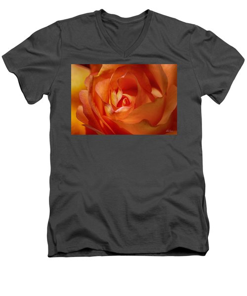 Orange Passion Men's V-Neck T-Shirt