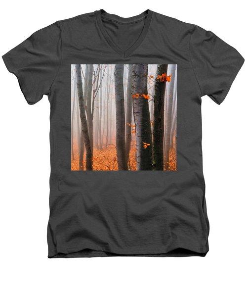 Orange Wood Men's V-Neck T-Shirt