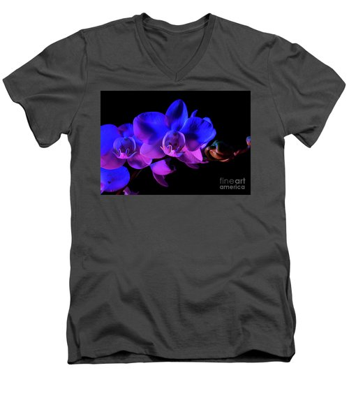 Men's V-Neck T-Shirt featuring the photograph Orchid by Brian Jones