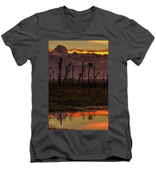 Orlando Wetlands Sunrise Men's V-Neck T-Shirt
