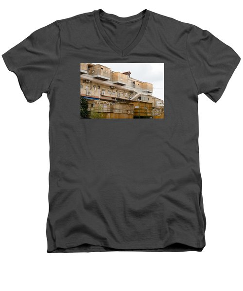 Orthodox Sukkahs In Jerusalem Men's V-Neck T-Shirt