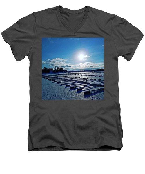 Oslo Fjords In Norway.  Men's V-Neck T-Shirt