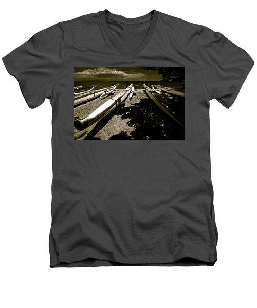 Outrigger Ocean Canoes Men's V-Neck T-Shirt