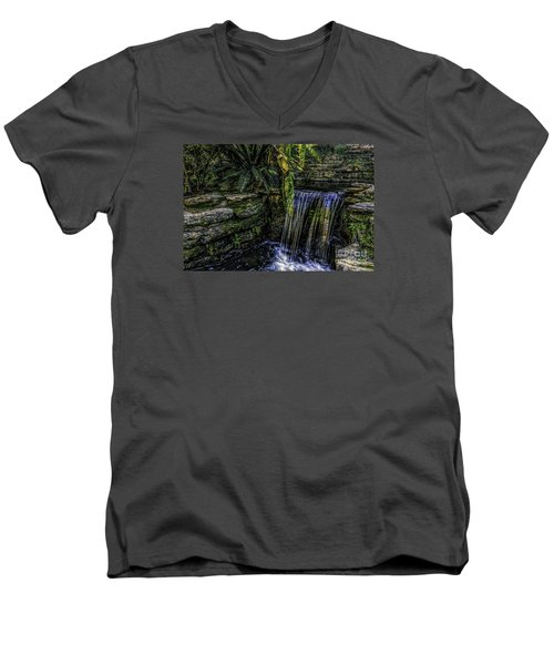 Over The Edge Men's V-Neck T-Shirt by Ken Frischkorn