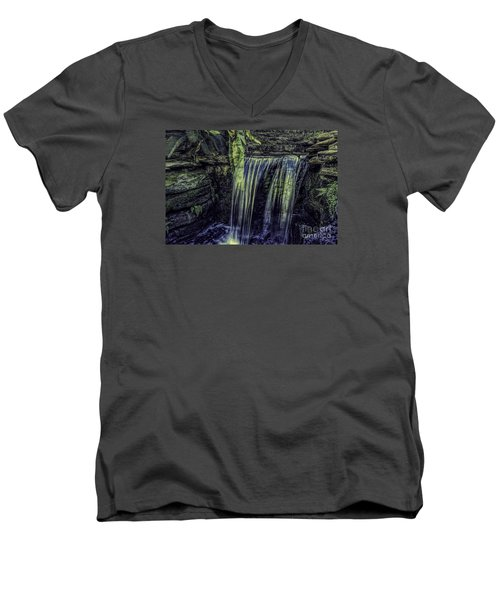 Over The Edge Two Men's V-Neck T-Shirt by Ken Frischkorn