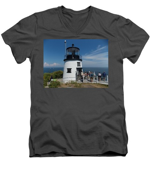 Owls Head Light Men's V-Neck T-Shirt