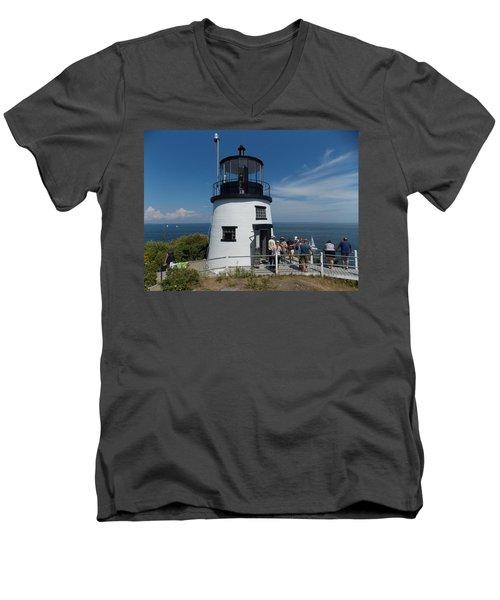 Owls Head Light Men's V-Neck T-Shirt
