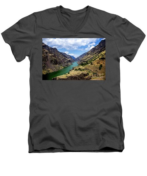 Oxbow Dam Tailwater Idaho Journey Landscape Photography By Kaylyn Franks  Men's V-Neck T-Shirt