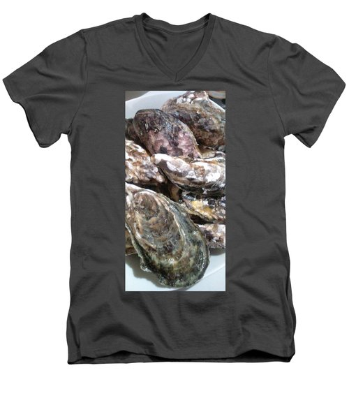 Oyster  Men's V-Neck T-Shirt