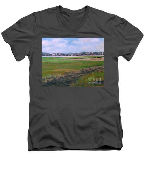 New England Shore Men's V-Neck T-Shirt