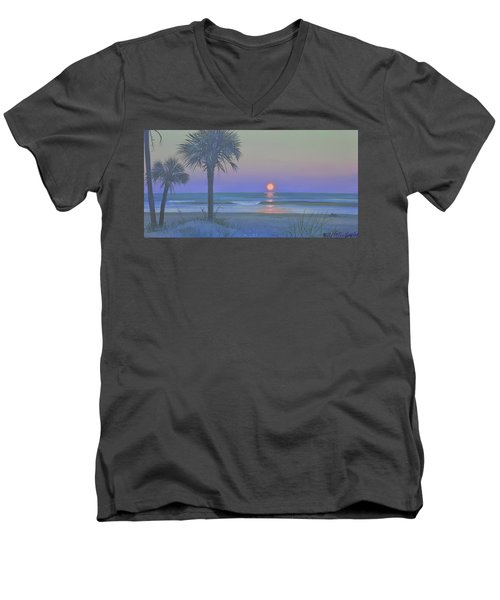 Palmetto Moon Men's V-Neck T-Shirt by Blue Sky