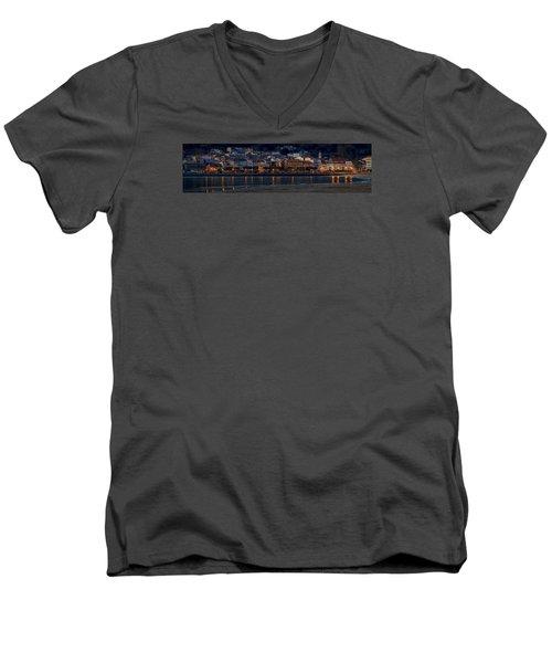 Panorama Of Cedeira Galicia Spain Men's V-Neck T-Shirt