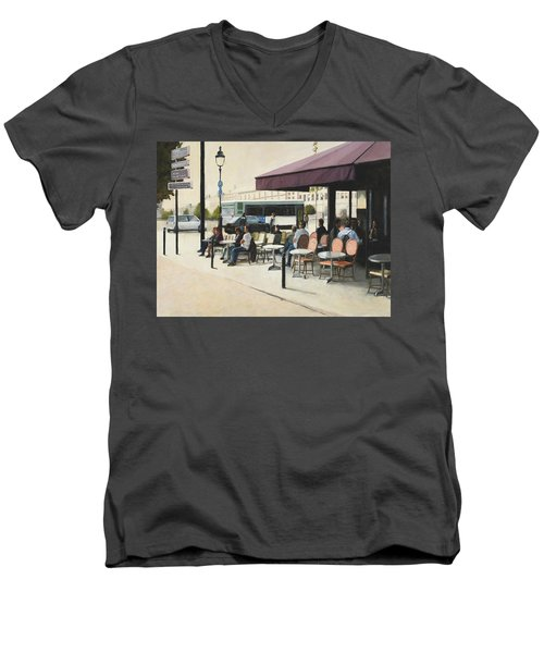 Paris Cafe Men's V-Neck T-Shirt