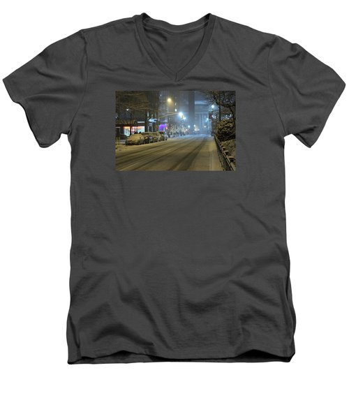 Park Avenue Bellow Grand Central Manhattan New York Men's V-Neck T-Shirt