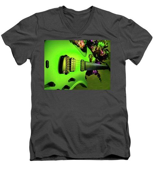 Parker Fly Guitar Hover Series Men's V-Neck T-Shirt